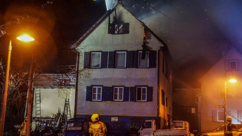 Wohngebäudebrand in Rutesheim-Perouse