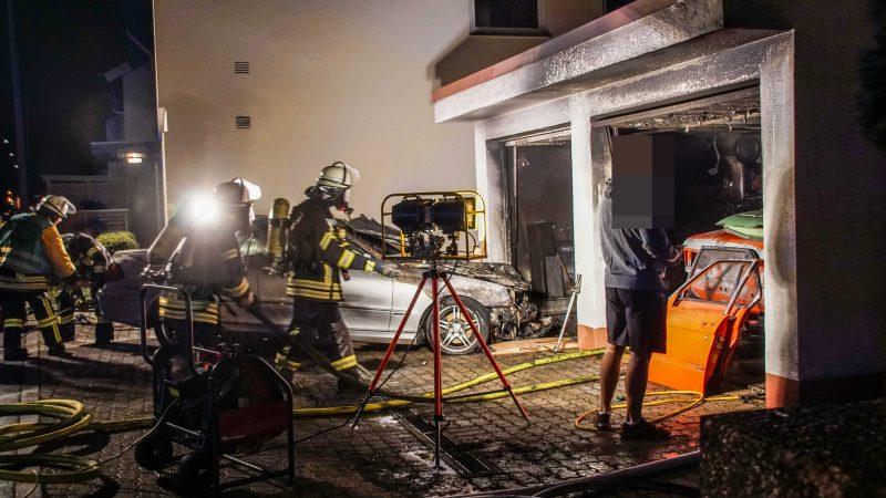 Magstadt: Mercedes in Brand geraten
