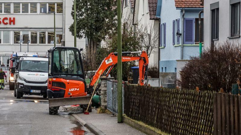 Leonberg-Eltingen: Baggerarbeiten haben Gasleck zur Folge