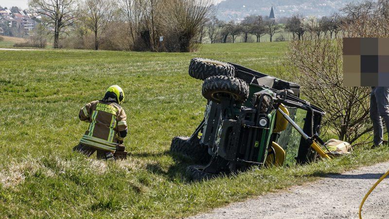 Rutesheim: Unfall auf einem Feldweg